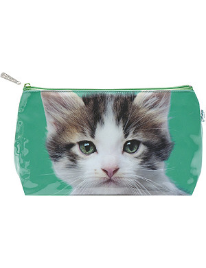 CATSEYE Kitten on Green wash bag
