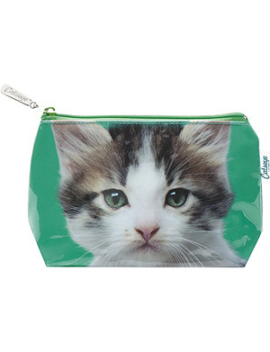 CATSEYE Kitten on Green small wash bag