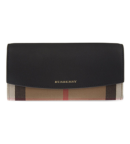 BURBERRY House check wallet (Black