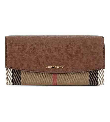 BURBERRY Porter house check wallet (Tan