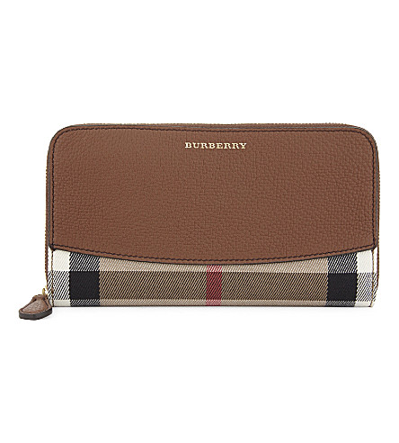 BURBERRY Elmore house check wallet (Tan