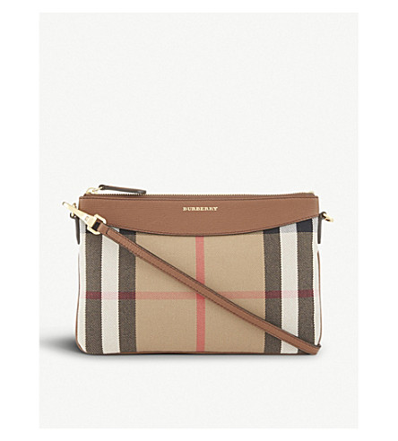 BURBERRY Peyton cross-body bag (Saddle+brown