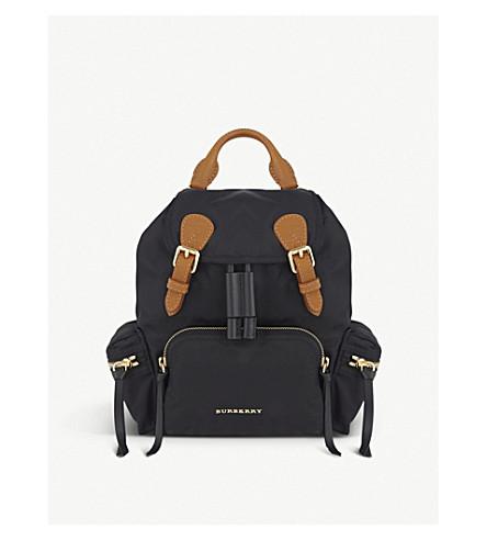 BURBERRY Small nylon backpack (Black