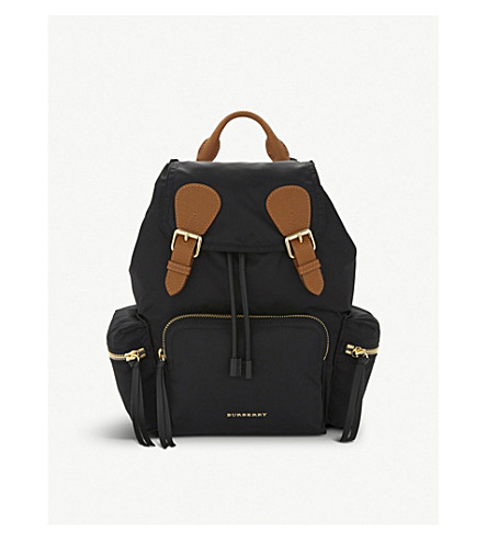BURBERRY Medium nylon backpack (Black