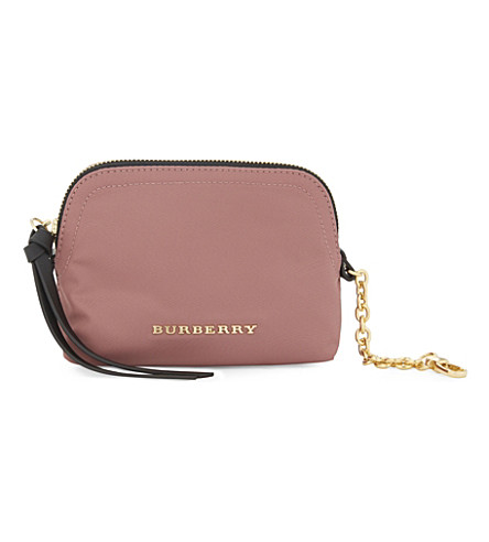 BURBERRY Small nylon pouch (Mauve+pink