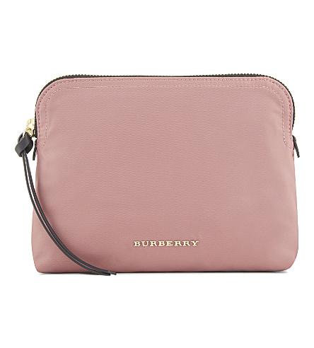 BURBERRY Zip pouch (Mauve+pink