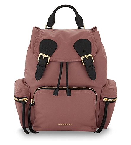 BURBERRY Prorsum medium nylon backpack (Mauve