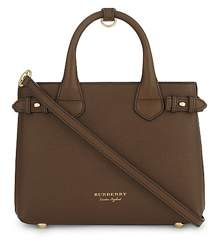 BURBERRY Banner small leather shoulder bag (Tan