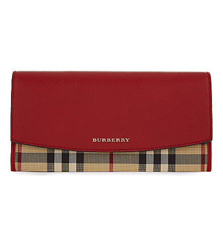 BURBERRY Porter leather wallet (Parade+red