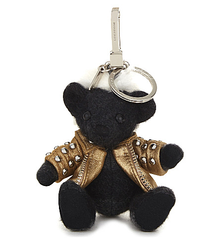 BURBERRY Punk Thomas Bear cashmere charm 12cm (Charcoal