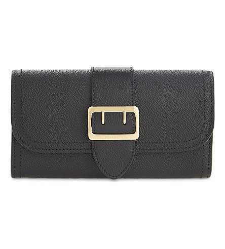 BURBERRY Hulton buckled leather continental wallet (Black