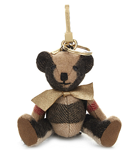 BURBERRY Thomas Bear check charm 12cm (Camel