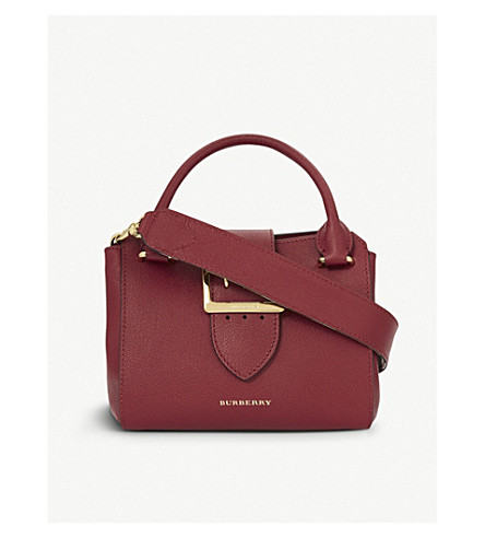 BURBERRY Buckle small leather tote (Parade+red