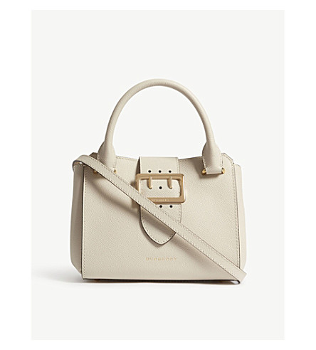 BURBERRY Buckle small leather tote (Lime+stone