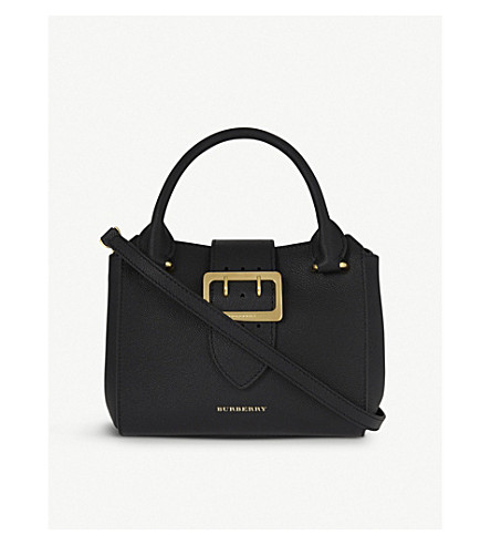 BURBERRY Buckle small leather tote (Black