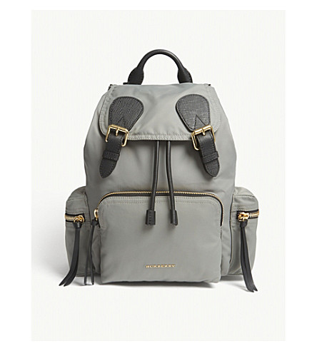 BURBERRY The Rucksack backpack (Thistle+grey