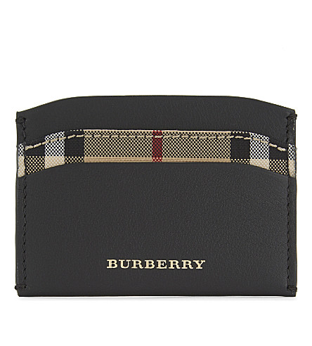 BURBERRY Izzy leather card holder (Black