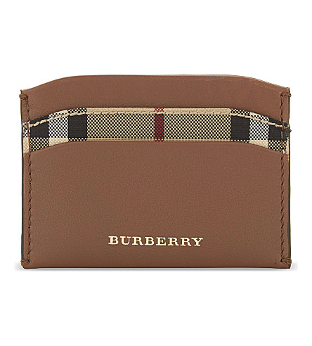 BURBERRY Izzy leather card holder (Tan