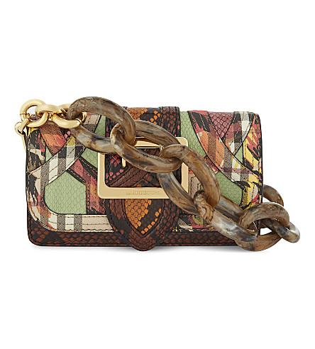 BURBERRY Garden buckle leather shoulder bag (Multi
