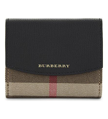 BURBERRY Luna checked purse (Black