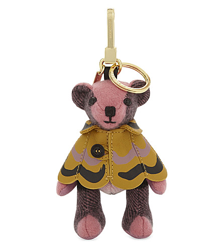 BURBERRY Thomas bear cashmere charm 12cm (Rose+pink