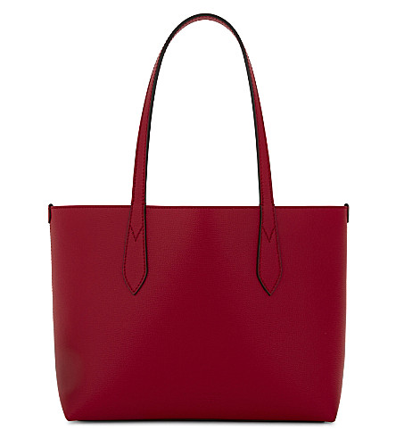 BURBERRY Lavenby small reversible leather shopper (Poppy+red