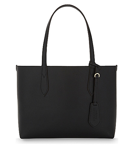 BURBERRY Reversible small leather shopper (Black