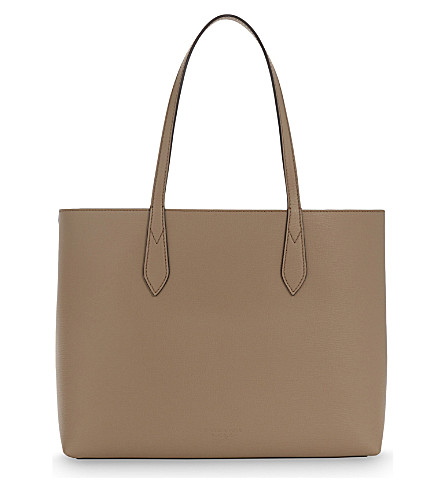 BURBERRY Lavenby midi reversible tote (Mid+camel