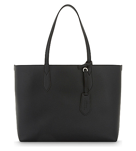 BURBERRY Lavenby reversible leather shopper (Black
