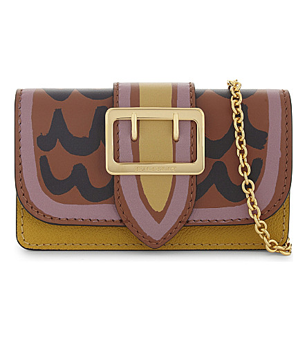 BURBERRY Leather cross-body bag (Brown pink