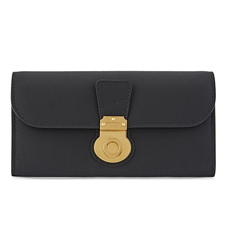 BURBERRY Halton leather continental wallet (Black