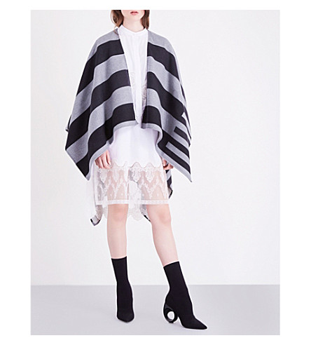 BURBERRY Charlotte reversible wool cape (Grey