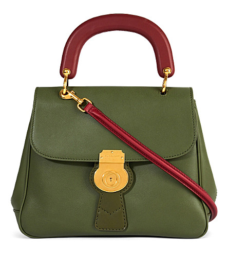 BURBERRY Trench leather crossbody tote (Moss green