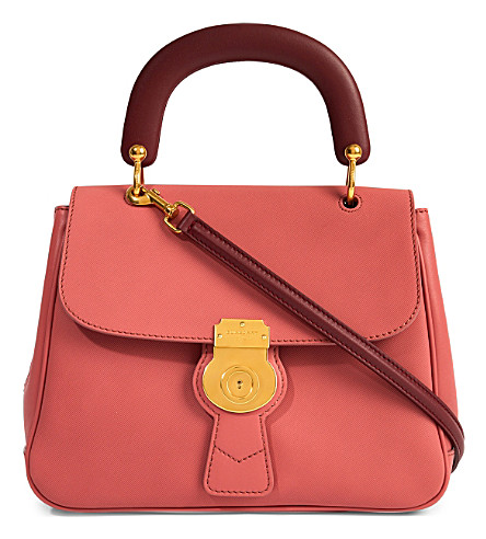 BURBERRY Trench leather crossbody tote (Blossom+pink