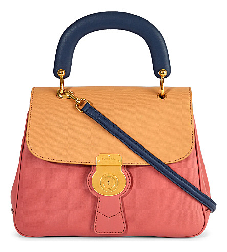 BURBERRY Trench leather crossbody tote (Clemetine+blossom+pink