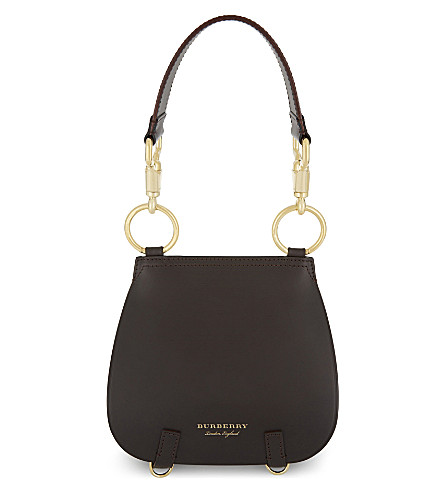 BURBERRY Bridle Haymarket saddle bag (Dark+clove+brown