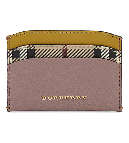 BURBERRY Izzy leather card holder (Dusty+pink