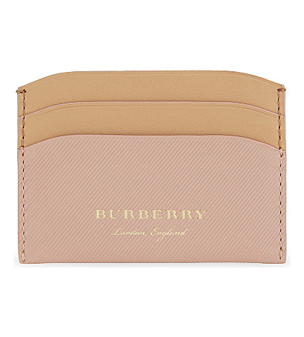BURBERRY Izzy leather card holder (Ash+rose+pale+clementine
