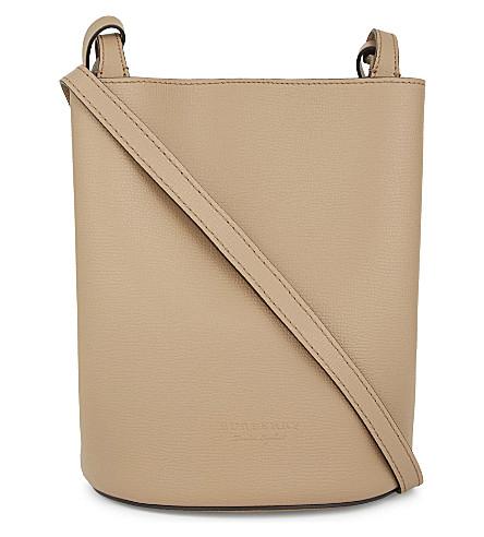 BURBERRY Lorne leather cross-body bag (Mid+camel