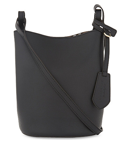 BURBERRY Lorne leather bucket bag (Black