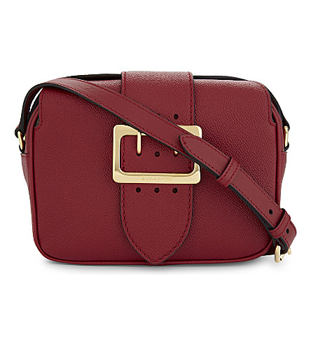 BURBERRY Buckle Crossbody leather bag (Parade+red