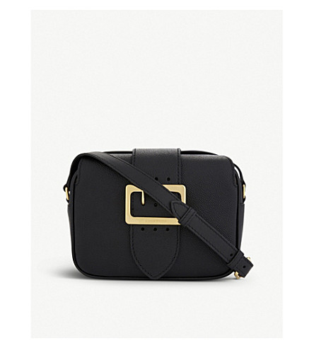 BURBERRY Buckle leather crossbody bag (Black