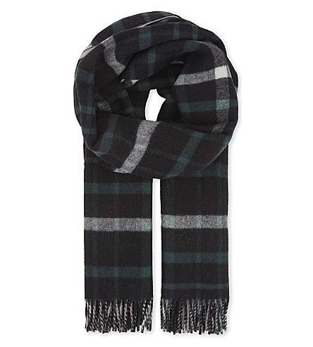 BURBERRY Reversible oversized scarf (Black