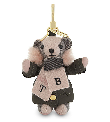 BURBERRY Thomas Bear keyring (Ash+rose