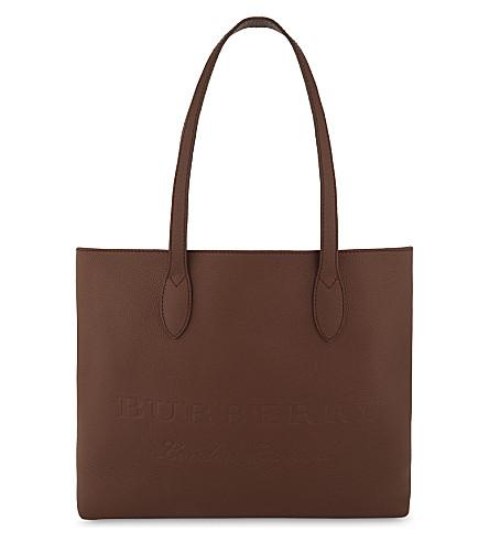 BURBERRY Medium leather tote (Chesnut+brown