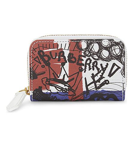 BURBERRY Sketchbook Union Jack canvas purse (Union+jack