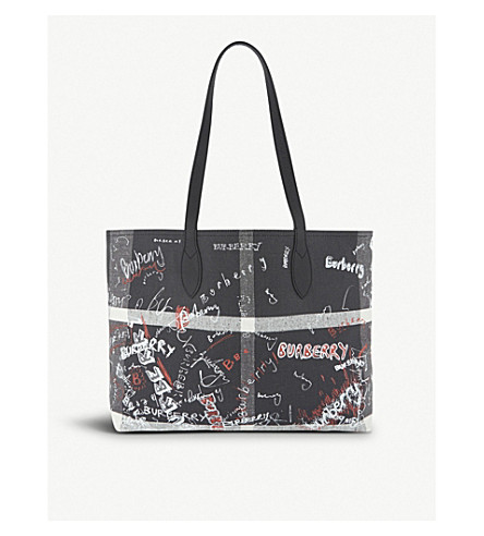 BURBERRY Sketchbook leather tote (Black