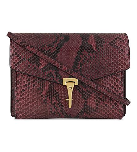 BURBERRY Macken python cross-body bag (Pink