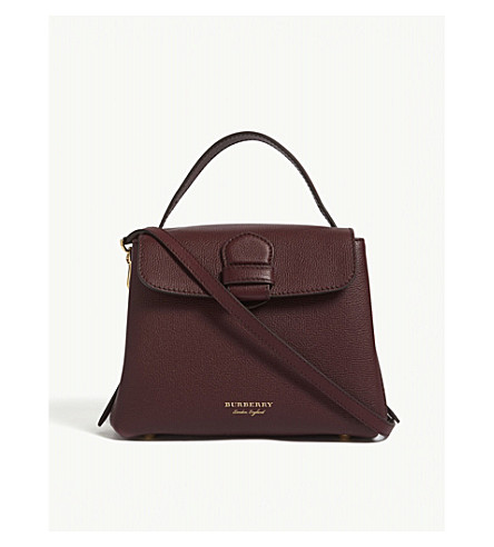 BURBERRY Camberley small leather shoulder bag (Mahogany+red