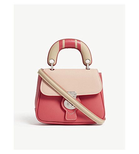 BURBERRY DK88 small leather shoulder bag (Bright+russet+ash+rose